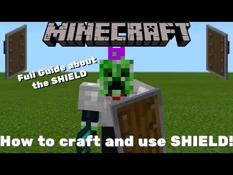 minecraft windows 10 crafting shield