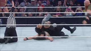 Roman_Reigns,_Dean_Ambrose___Chris_Jericho_vs._Bray_Wyatt,_Harper___Rowan__Smack
