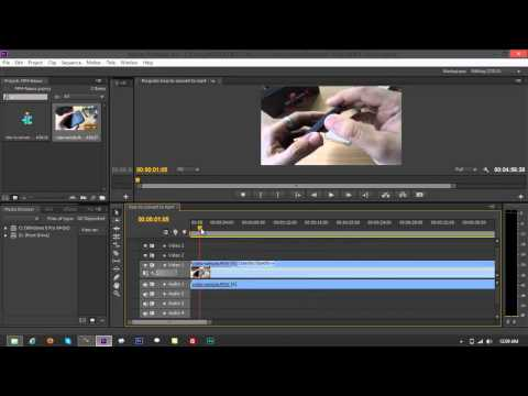 Convert Videos to MP4 using Adobe Premiere Pro CS6