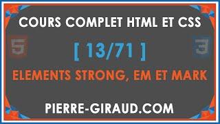 COURS COMPLET HTML ET CSS [13/71] - Les niveaux d'importance des textes