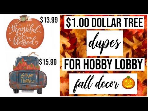 $1 Decor Dupes for Hobby Lobby Fall 2019 Decor!