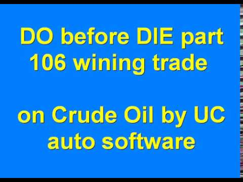 DO before DIE part 106 Automated Algo Trading Software from Ultachaal on MCX Crude Oil