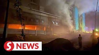 Fire razes new Tanah Merah Hospital building