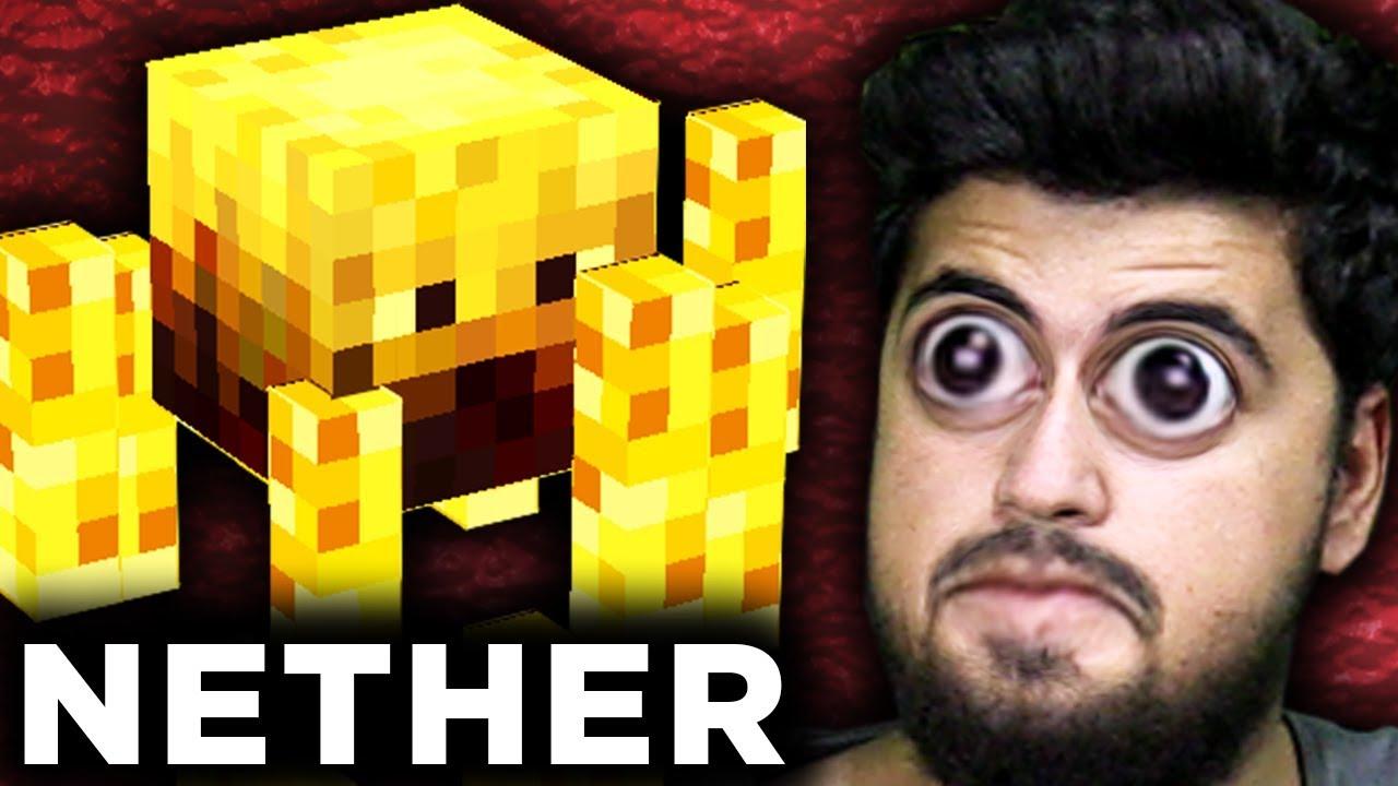MINECRAFT NETHER KALESİNE GİTTİM! NETHER ÖZEL! Minecraft Bölüm 9