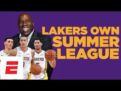 Lonzo Ball, Josh Hart give Los Angeles Lakers back-to-back summer league MVP awards | ESPN