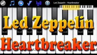 Led Zeppelin - Heartbreaker - How to Play Piano Melody