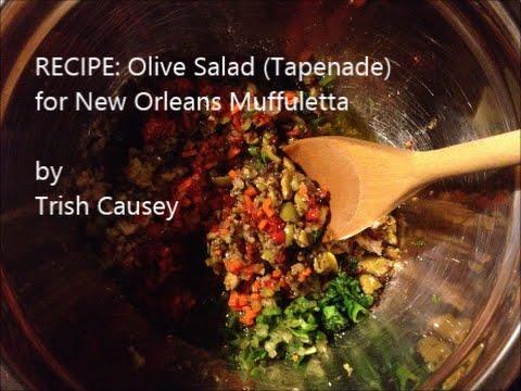 Recipe: Olive Salad (Tapenade) for New Orleans Muffuletta - Vegetarian & Gluten-Free