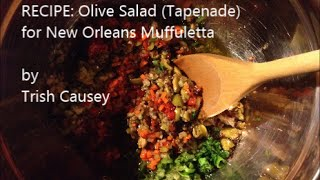 Recipe: Olive Salad (tapenade) For New Orleans Muffuletta - Vegetarian & Gluten-free