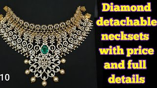 Diamond jewellery collection with price and full details // daimond neck sets collection with price