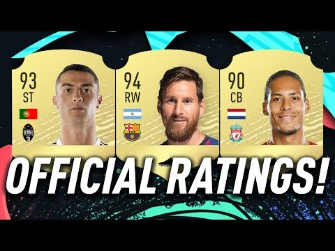 OFFICIAL LEAKED FIFA 20 RATINGS! FT. RONALDO, MESSI & MORE! #FIFA20 ULTIMATE TEAM