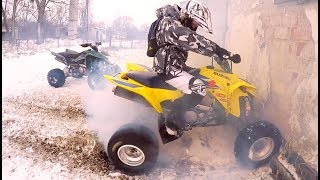 Riding quads in winter is a lot of fun // Quady + Zima = Dobra zabawa :)