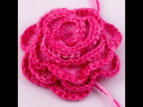 How To Make A Easy Crochet Rose Flower Youtube