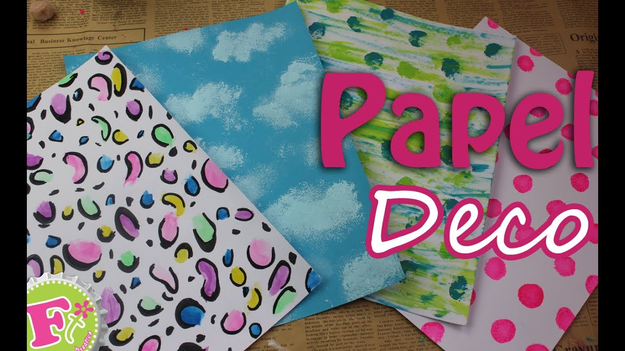 Haz tu propio papel decorativo - floritere - 2015 - YouTube