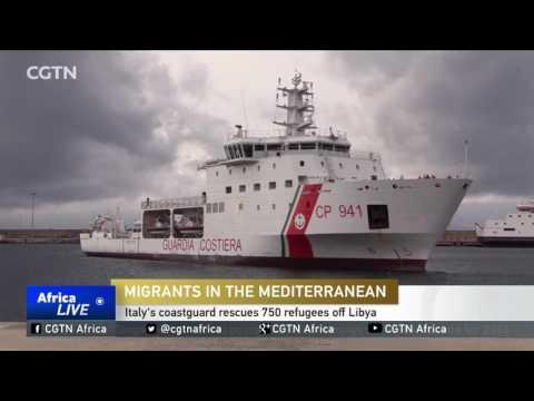 Italy's coastguard rescues 750 refugees off Libya