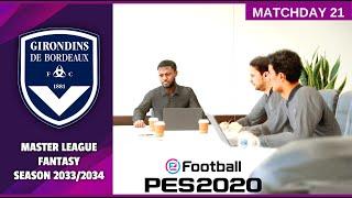 Football 2020 Master League Fantasy Season 2033 2034 Bordeaux vs Rennes HD