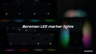 Mod adds Boreman LED markers for both ETS 2 and ATS. Complete info and download links can be found on the SCS forums. Link: https://forum.scssoft.com/viewtopic.php?f=175&t=251668