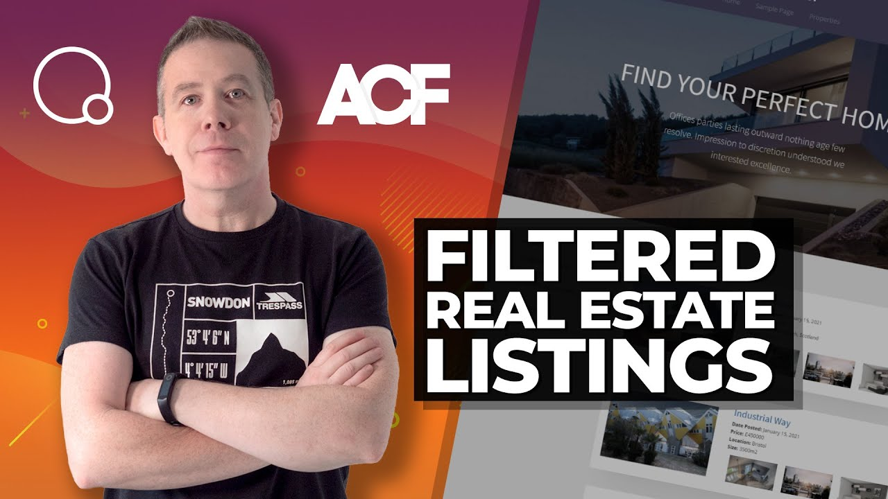 Advanced Custom Fields | Oxygen Builder | FacetWP | Real Estate Listings