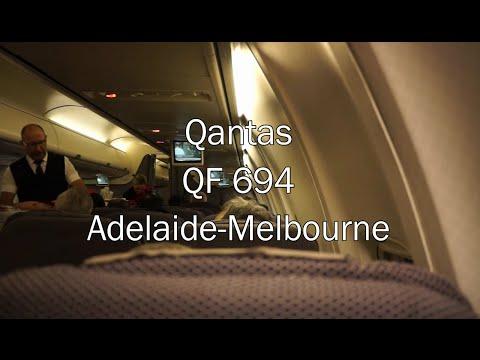 Qantas Boeing 737-800(WL) Flight Report: QF 694 Adelaide to Melbourne