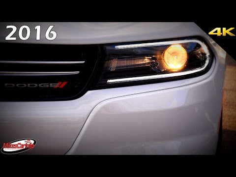 2016 dodge charger at night interior and exterior in 4k