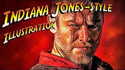 """Photoshop: How to Quickly Create a Classic, """"Indiana Jones"""" Style Movie Poster Illustration."""