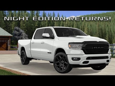 2020 Ram 1500 Night Edition and Rebel Black Package!