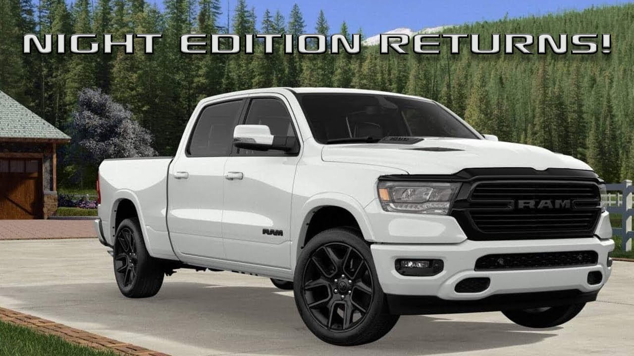 5cb34b77f 2020 Ram 1500 Night Edition and Rebel Black Package!