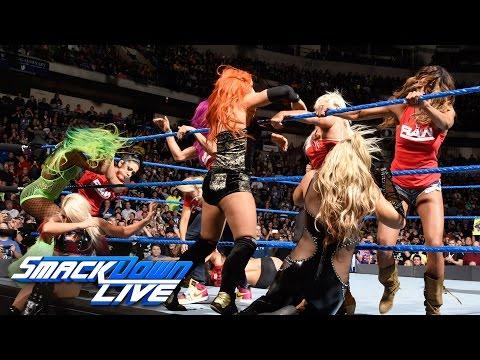 Nikki Bella vs. Carmella ends in chaos as Team Raw invades: SmackDown LIVE, Nov. 15, 2016
