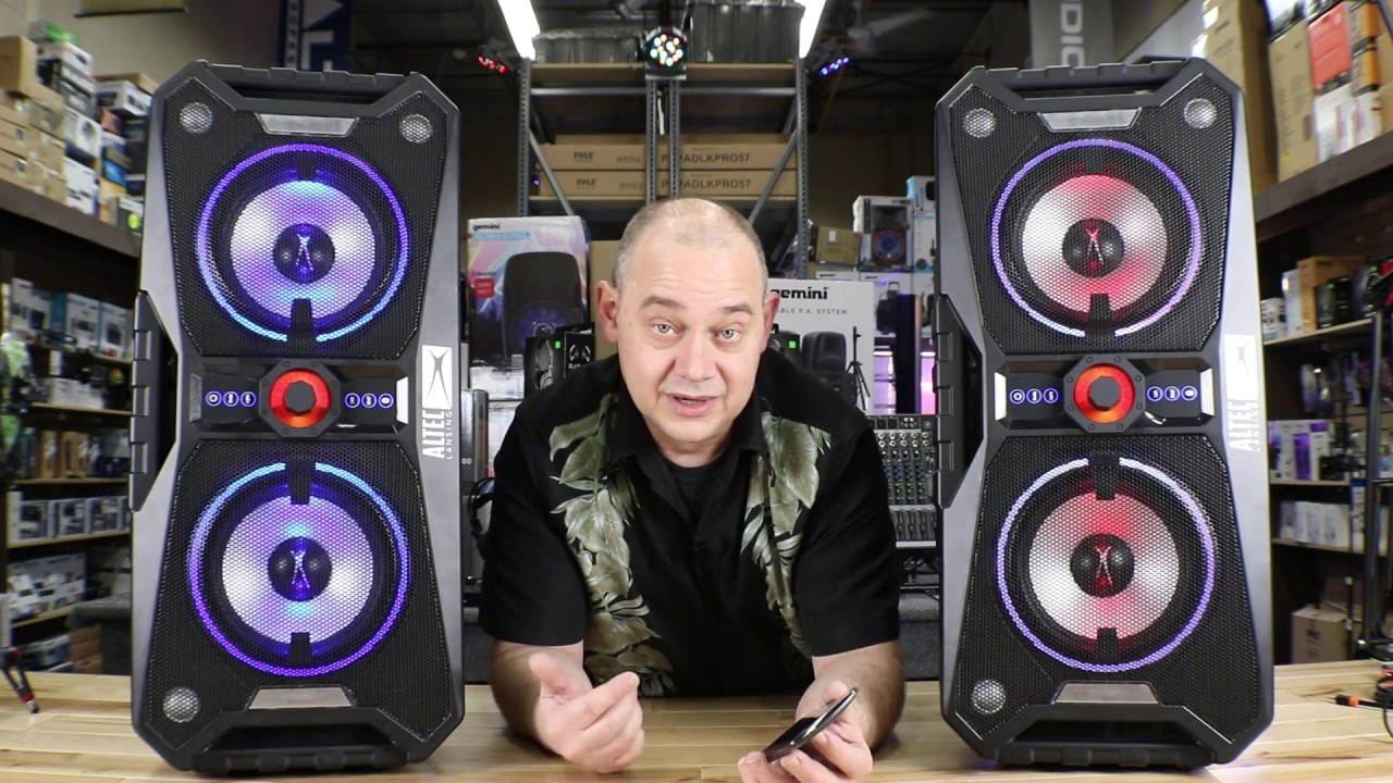 ALP-XP800 Review of the Altec Lansing Xpedition 8 live Demo How to sync 2  via Bluetooth