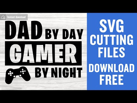 Free Caluya design | free svg. Dad By Day Gamer By Night Svg Free Fathers Day Svg Father Svg Instant Download Silhouette Cameo Shirt Design Funny Svg Png 0816 Freesvgplanet SVG, PNG, EPS, DXF File