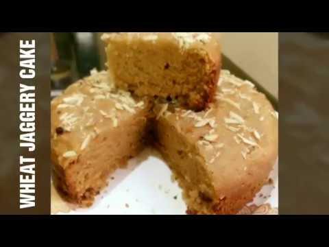Eggless Wheat Jaggery Cake | बिना ओव्हन बानाए हेल्थी गेहूं के आटे और गुड़ का केक | Hakuru cake |