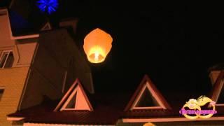 Небесные фонарики на свадьбе.