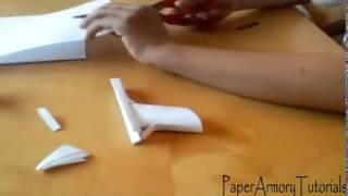 Как сделать пистолет из бумаги за 10 минут
