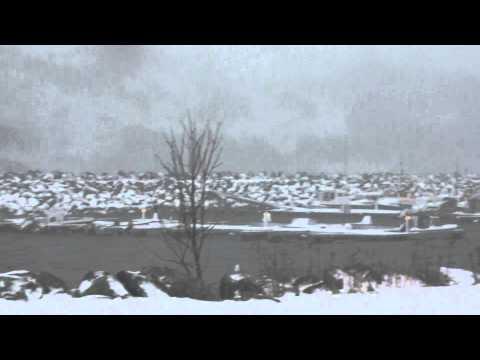 "Storm ""OLE"" på Norge, Senja. Uraganas ""OLE"" žiūrint per namo langą."