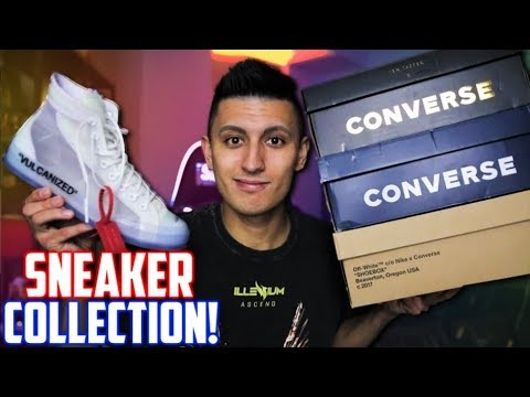 My ENTIRE CONVERSE SNEAKER COLLECTION! (WORTH $5000+) | SneakerTalk