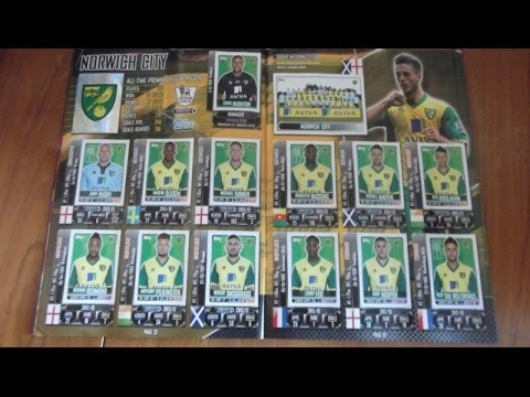 YouTube PREMIERE!!! 100% Complete TOPPS PREMIER LEAGUE OFFICIAL STICKER COLLECTION 2014 review HD