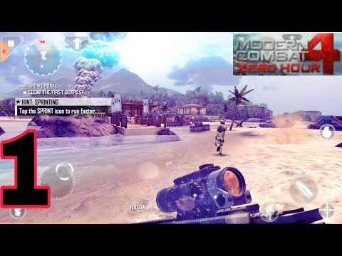 Modern combat 4.Zero hours android gamepaly part 1