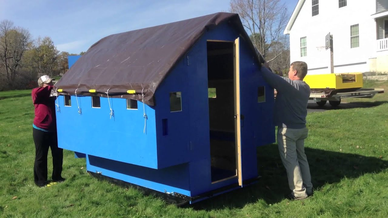 Portable ice fishing shanty plans for Portable fish house
