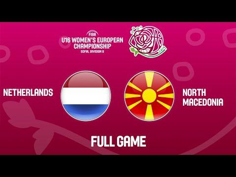 Netherlands V North Macedonia - Ful Game - FIBA U16 Women's European Championship Division B 2019