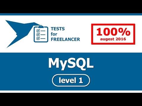 Freelancer - MySQL - level 1 - test (100%)