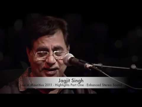 Jagjit Singh Live - Highlights Of Mauritius - Full HD stereo sound - Part One