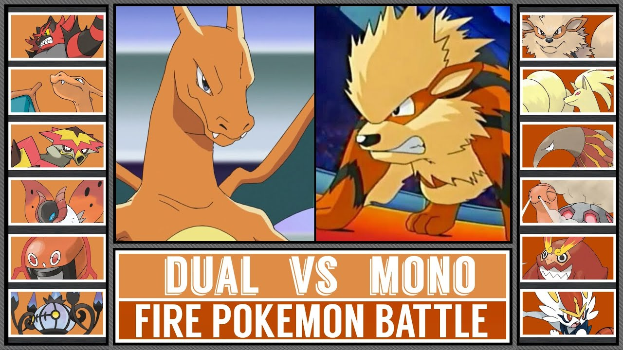 Fire Pokémon Battle: DUAL vs MONO TYPE!