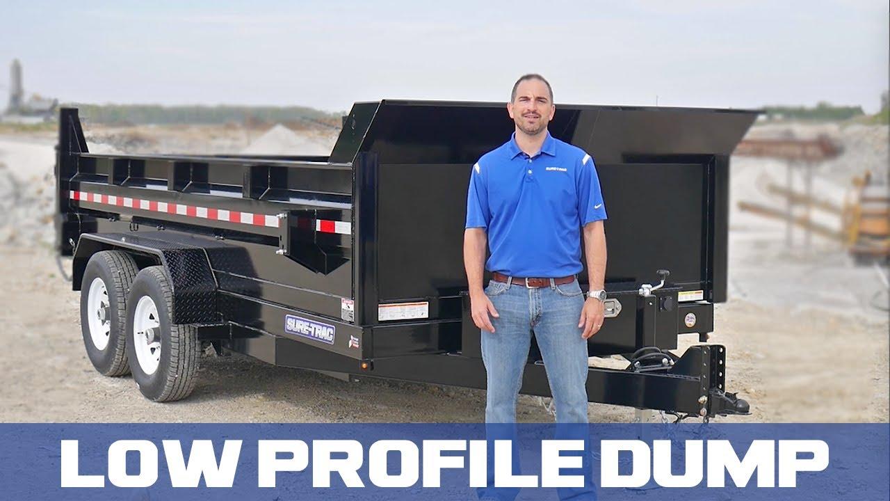 Sure Trac Hd Low Profile Dump Youtube Hydraulic Trailer Wiring Diagram