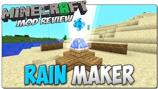 RAIN MAKER MOD MINECRAFT 1.7.10 | Magia para invocar a la lluvia | MINECRAFT MODS