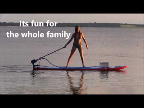 River Run Marine Electric Paddle Board Sup Motor Youtube