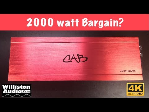 Car Audio Bargain CAB-2000.1 Amp Dyno Test and Review (4K)