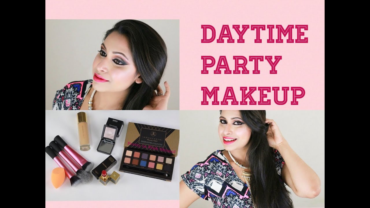 Daytime Party Makeup Look | Prom Makeup Tutorial | Full Coverage Foundation Routine - YouTube