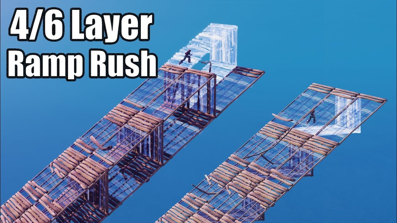 More 4 Layer Ramp Rushes (Conserve Mats) - Fortnite Battle Royale