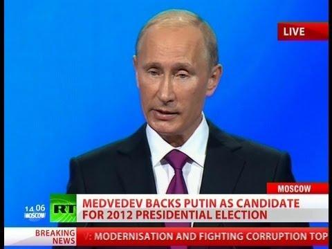 Breaking News: Medvedev backs Putin for president in 2012