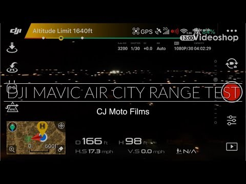 DJI Mavic Air City Range Test