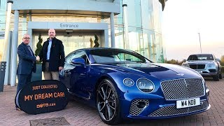 Winner Philip Bodycote collects his Bentley Continental GT W12